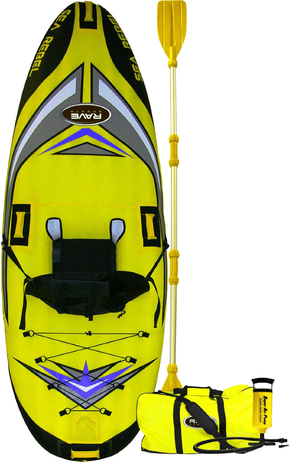 Rave Sea Rebel top Inflatable Kayak for beginners