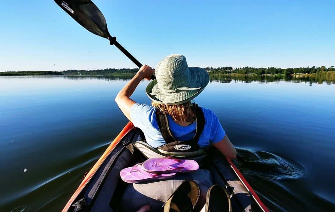 Woman Kayaking